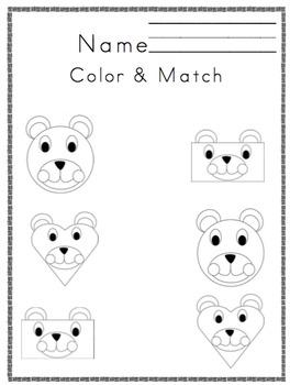 Bear Shapes Printable