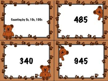 Bear Skip Counting by 5s, 10s, 100s