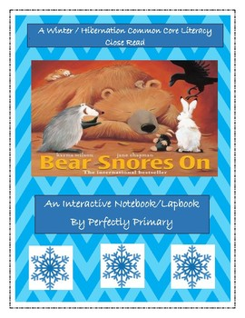 """Bear Snores On-An Interactive Notebook/Lapbook and """"Close Read"""""""