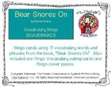 Bear Snores On - BOARDMAKER Bingo Game