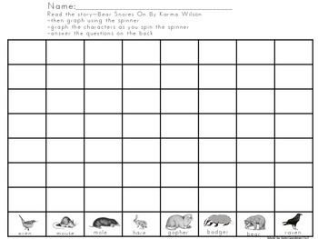 Bear Snores On Graphing Activity