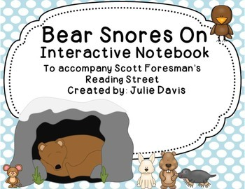 Bear Snores On Interactive Notebook Journal