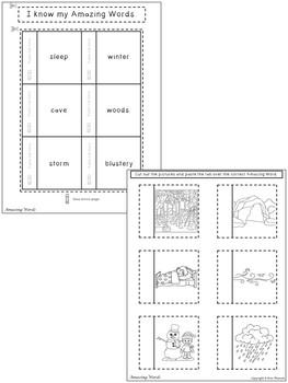 Bear Snores On Interactive Notebook ~ Reading Street Kindergarten