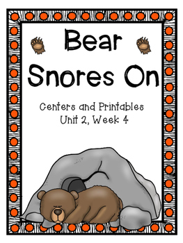 Bear Snores On, Kindergarten, Centers and Printables, Unit