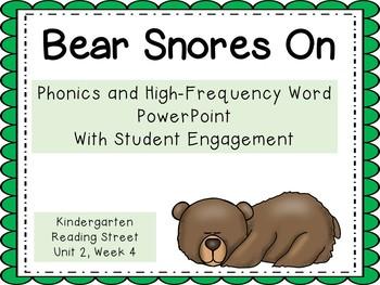 Bear Snores On, Kindergarten, PowerPoint, Reading Street,