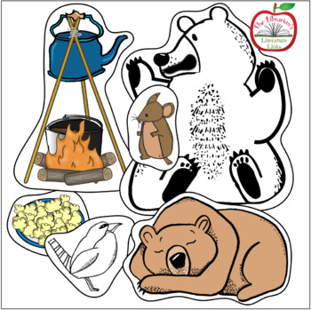 Bear Snores On Literature Link (Storytelling, Sequencing, Word Cards, Writing)