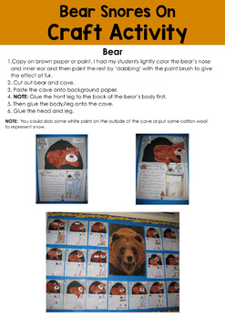 Bear Snores On Read Aloud Activities Also Non Fiction Activities: Brown Bears