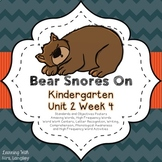 Bear Snores On Kindergarten Unit 2 Week 4