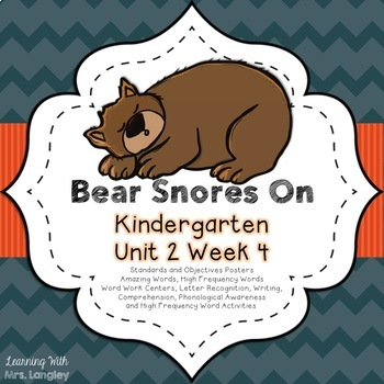 Bear Snores On Kindergarten Unit 2 Week 4