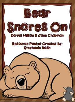 Bear Snores On Resource Packet - aligned with Scott Foresman Reading Street