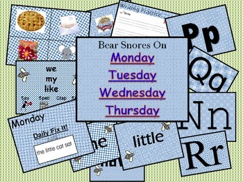 Bear Snores On SF.K.2.4 Pre-Lesson PPT