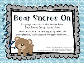 bear snores on speech and language activities winter. Black Bedroom Furniture Sets. Home Design Ideas