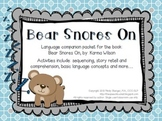 Bear Snores On – Speech and Language Activities (Winter Bo