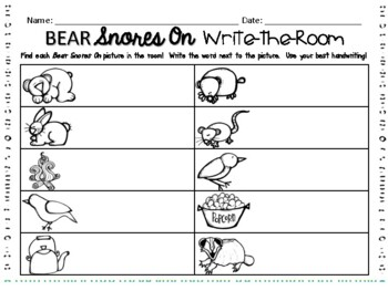 Bear Snores On Write-the-Room