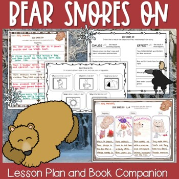 Bear Snores On Lesson Plan and Book Companion - Distance Learning