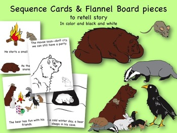 Bear Snores On Activity Pack:  sequence activites, flannel, book, LA & math