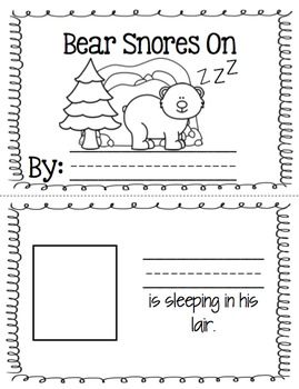 Bear Snores On - retelling visuals & sequencing book