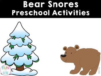 Bear Snores Preschool Activities