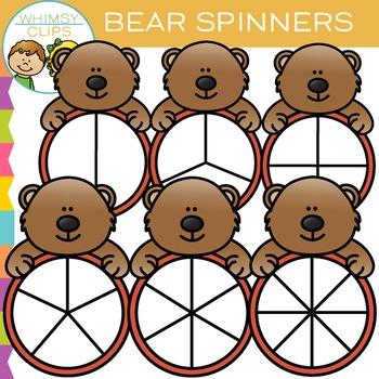 Bear Spinners Clip Art