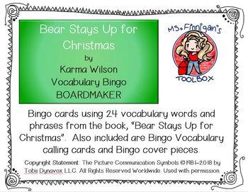 Bear Stays Up for Christmas - BOARDMAKER Bingo Game