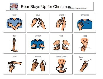 Bear Stays Up for Christmas Sign Language Page