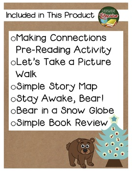 Bear Stays Up for Christmas by Wilson 6 Book Extension Activities NO PREP