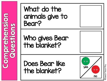 Bear Stays up for Christmas Book Companion- AAC, Core Vocabulary, & WH Questions