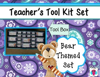 Bear Teacher's Tool Box Set