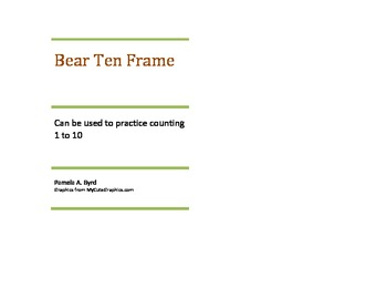 Bear Ten Frame