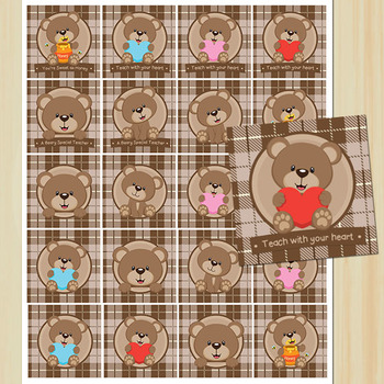 Bear Theme, Beary Special Teacher // Tags // Labels // Stickers