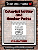Bear - Theme Coloring Letter and Number 0 - 10 (37 Pages) *o