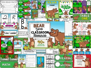 Bear Theme Decor Pack
