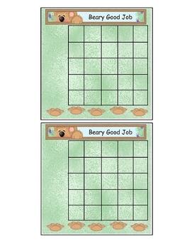 Bear Theme Incentive Sticker Chart
