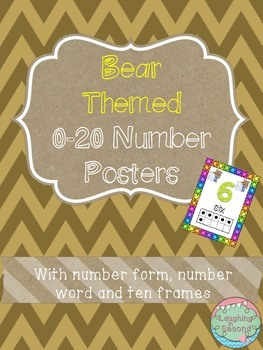 Bear Themed 0-20 Numbers Posters