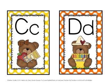 Bear-Themed Alphabet Word Wall Headers