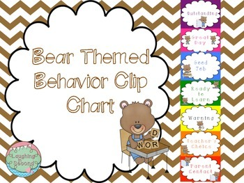 Bear Themed Behavior Chart