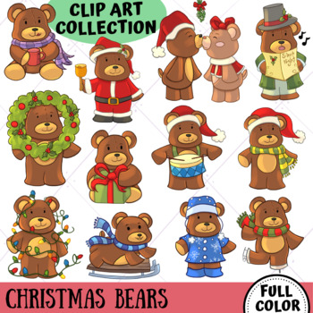 Bear Themed Christmas Clip Art - Winter Wonderland Series