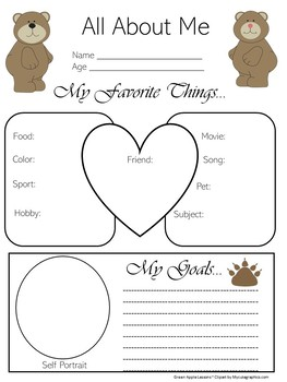 Bear Themed Classroom | Bear Theme | Bear Activity | All About Me