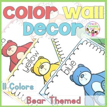 Bear Themed Color Decor for your Classroom