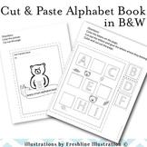Bear Themed Cut and Paste Alphabet Book, Printable, Center