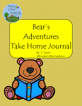 Bear Themed Journal - Take Home Friend