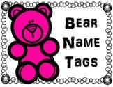 Bear Themed Name Tags