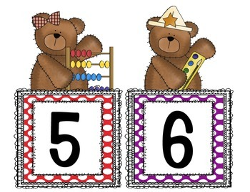Bear-Themed Numbers for the Primary Classroom