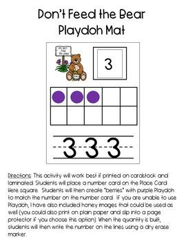 Bear-Themed Pre-K/ Kindergarten Math Activities
