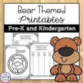 Bear Themed Printables - Teddy Bear Picnic Activities for PreK & Kindergarten