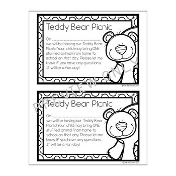 Bear Themed Printables - Teddy Bear Picnic Activities for PreK & Kindergarten