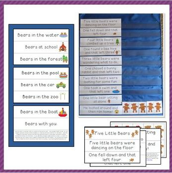 Bear-Themed Shared Reading Charts for Preschool and Kindergarten