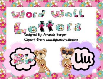 Bear Themed Word Wall Headers