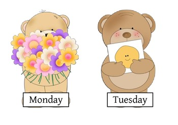 Bear Themed days of the week