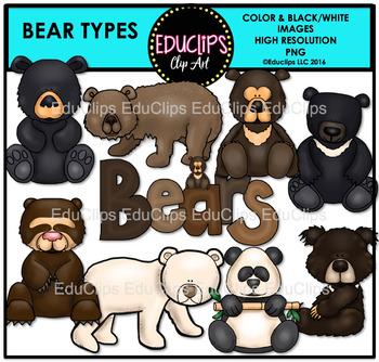 Bear Types Clip Art Bundle
